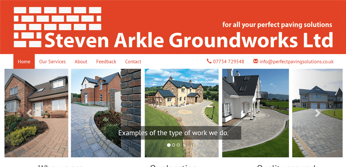 Steven Arkle Groundworks Ltd - Local Northumberland Web Design Project